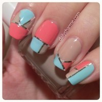 Nail Tape Mani Designs | daily charme