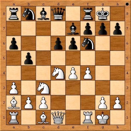Position after 10. f4.