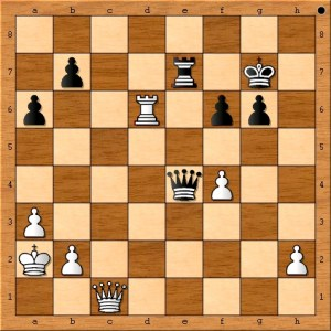 Position after Anand plays 39. Qc1.