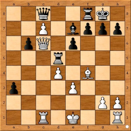 Position after Magnus Carlsen plays 23... Rxd5.