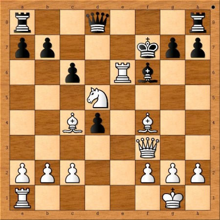 Position after 15. Rxe6!