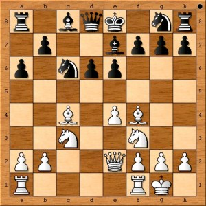 "Pavel Anisimov elected to play ""9. a4"" in order to stop Vladimir Shipov from playing b5 in a strong victory for white."