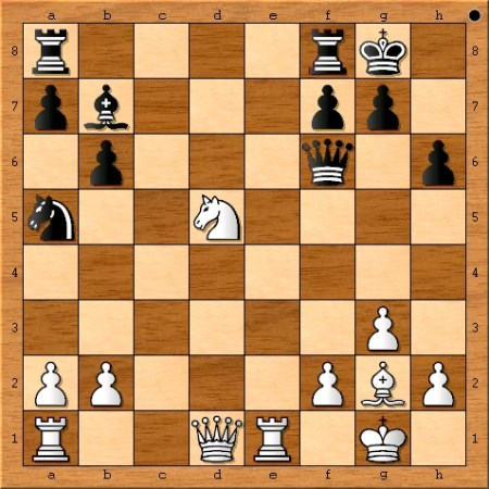 The position after Viswanathan Anand plays 20. d5.
