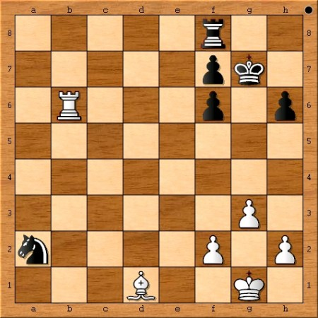 The position after Viswanathan Anand plays 30. Rxb6.