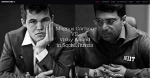 Official Photograph for Carlsen-Anand 2014