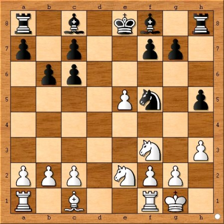 The position after Viswanathan Anand plays 11... b6.