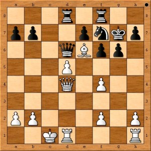 Position after Anand plays 19. Be6.
