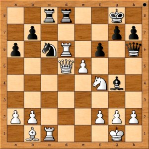Black committed a crime and Susan Polgar delivers the punishment.