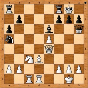 All of Susan Polgar's pieces are in the game and placed well.