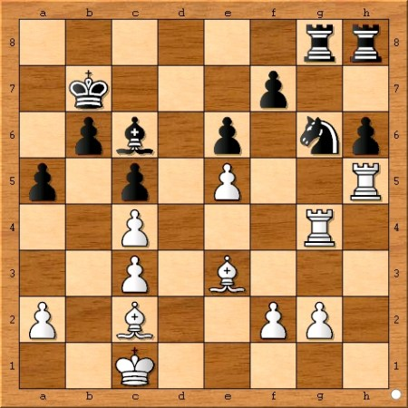 The position after Viswanathan Anand plays 23... a5.