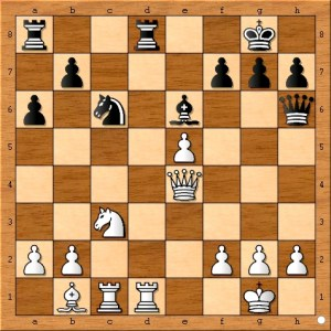 Black decides to contest Susan Polgar's control of the open d-file.