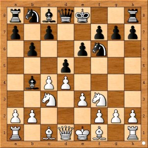 """The adage, """"Knight's before bishops,"""" means that the amateur chess player should bring out a knight on a particular side of the board before he places a bishop on that same side. Here the amateur chess player, Ted Castro, places an undefended bishop where it can fall victim to a fork. Mistakes like these are very common among amateur chess players."""