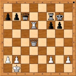 Position after Anand plays 31. Rxd6.