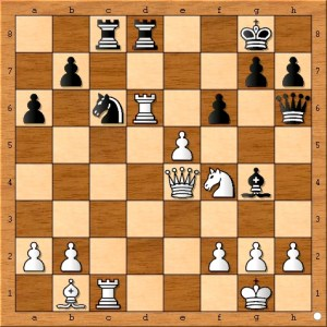 Finally, black crumbles in the face of Susan Polgar's unrelenting attack. Moving the pawn to f6 opens up checking possibilities for the queen on the a2-g8 diagonal.