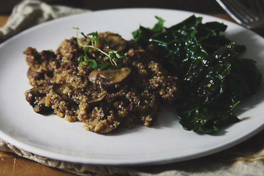 venison-mushroom-quinoa-skillet-4