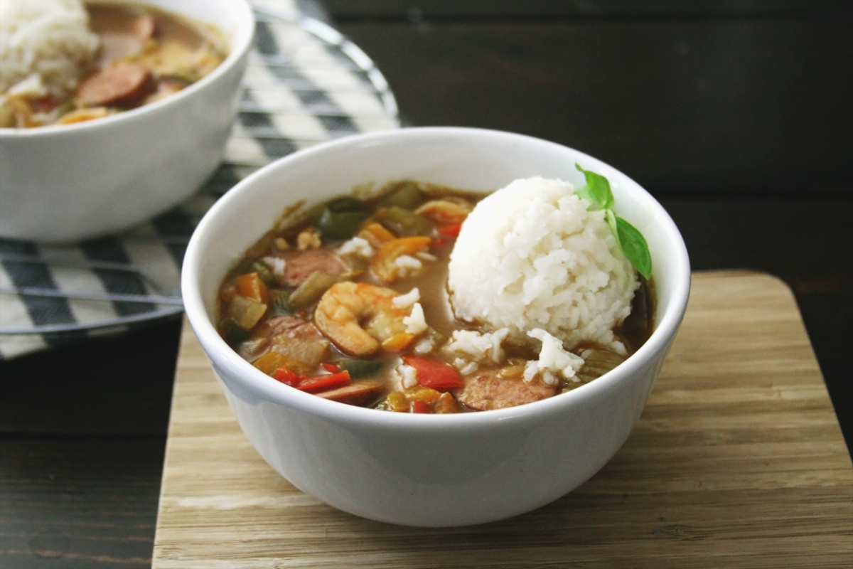Simple Cajun Chicken Shrimp and Sausage Gumbo