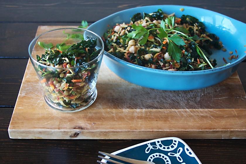 lentil-kale-rainbow-carrot-salad-2