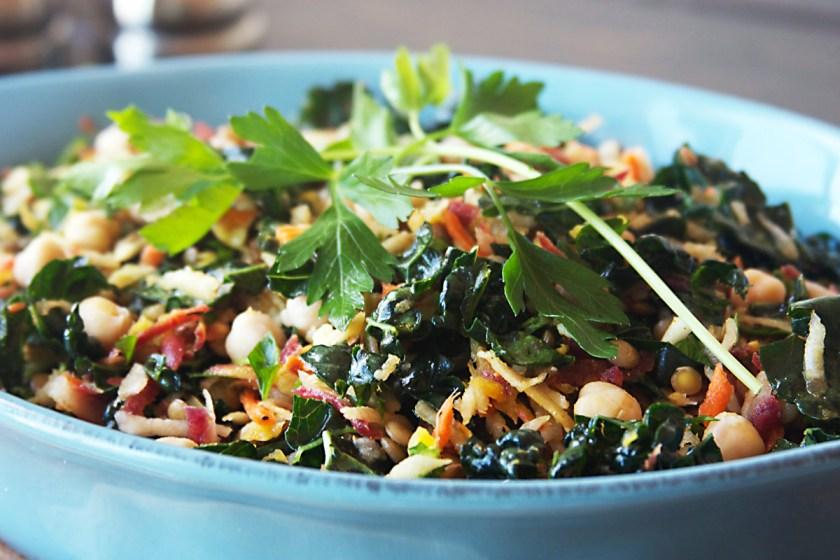 lentil-kale-rainbow-carrot-salad-4