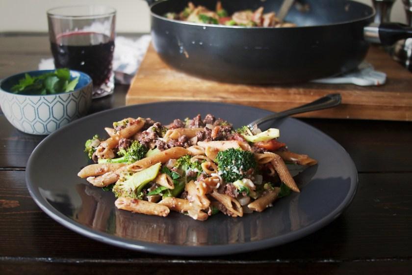 one-pan-sausage-penne-broccoli-4