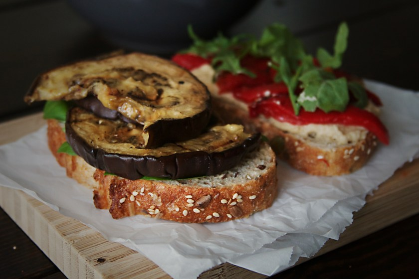 grilled-eggplant-sandwich-hummus-roasted-red-pepper-3
