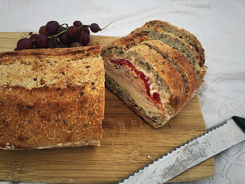 turkey-roasted-pepper-cream-cheese-pressed-sandwich-11
