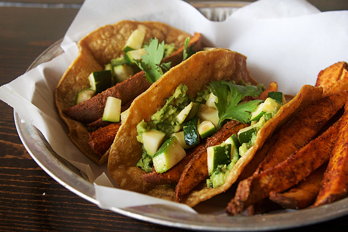 Vegetarian Chipotle Sweet Potato Tacos