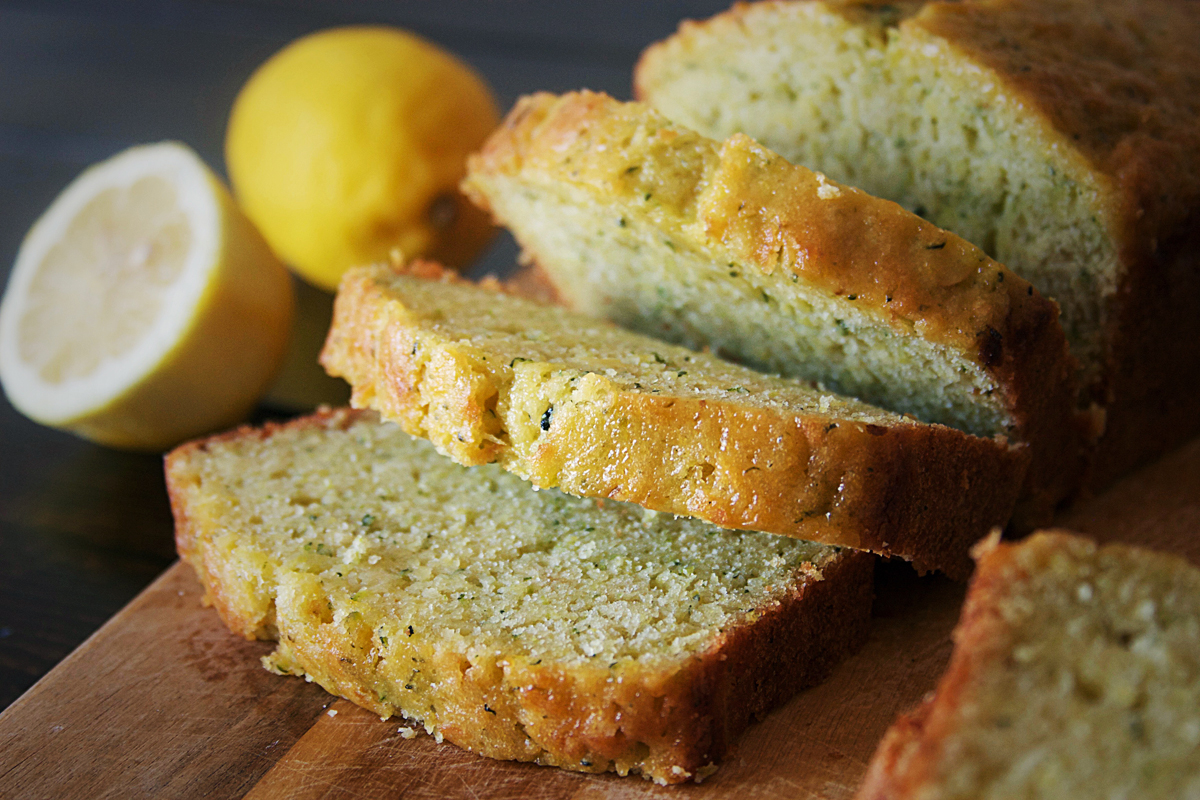 Olive Oil Lemon Zucchini Bread
