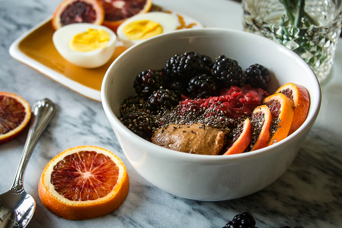 Coconut Beet Oatmeal with Blackberries Plus What I Learned on Whole30