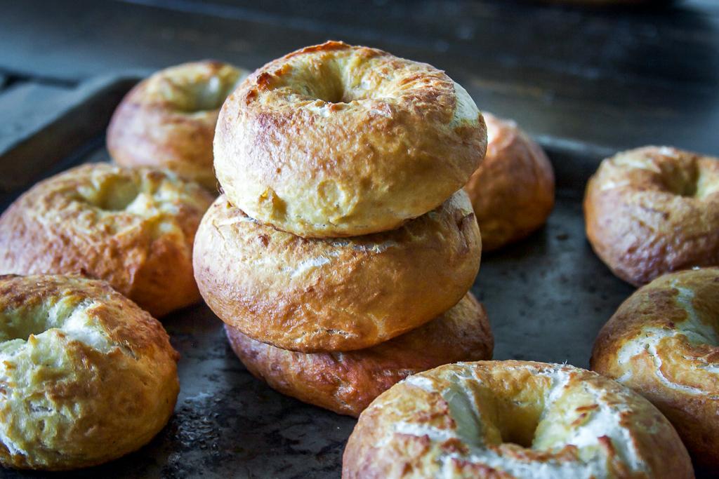 Salted Pretzel Bagels
