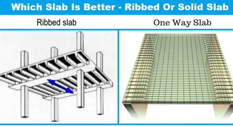 Which Slab Is Better – Ribbed Slab Or Solid Slab (One Way Or Two Way)