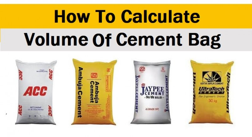 How To Calculate Volume Of Cement Bag In m3