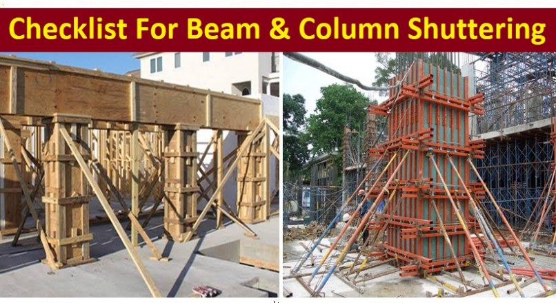 Checklists For Beam And Column Shuttering