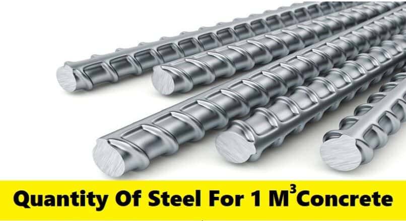 Quantity Of Steel Required For 1 M3 Concrete