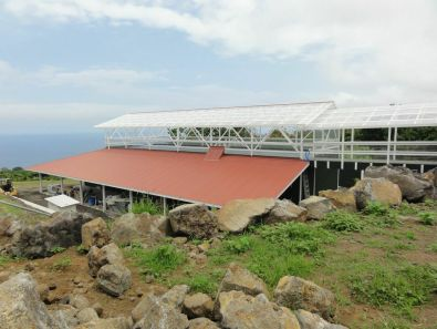 Sharon and Bob Wood of Arianna Farms 'Ono Kona Coffee recently completed work on a new mill on the smaller of their two Kona coffee farms.