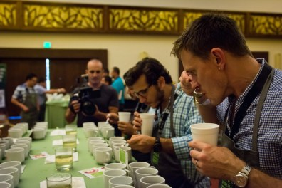 Tasting some coffees at 'Let's Talk Tasting'