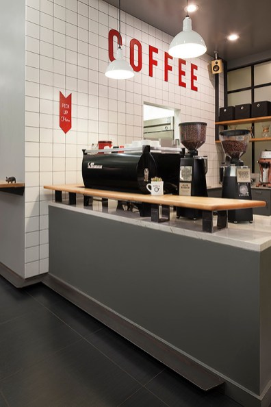 Modern Coffee in Uptown Oakland. Photo courtesy of Arcsine Architecture.