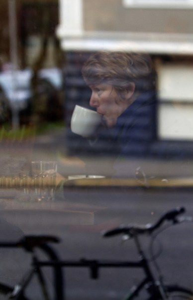 Reflecting on Coffee and a Bike by Alan Weiner