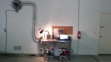 The sample roasting area