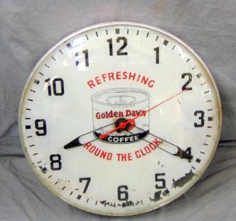 Golden Dawn Coffee clock