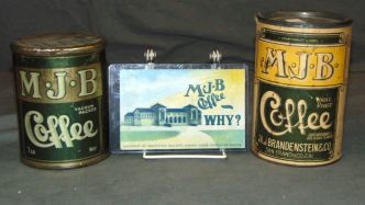 MJB Coffee tins and signs