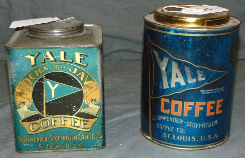 Yale Coffee tins