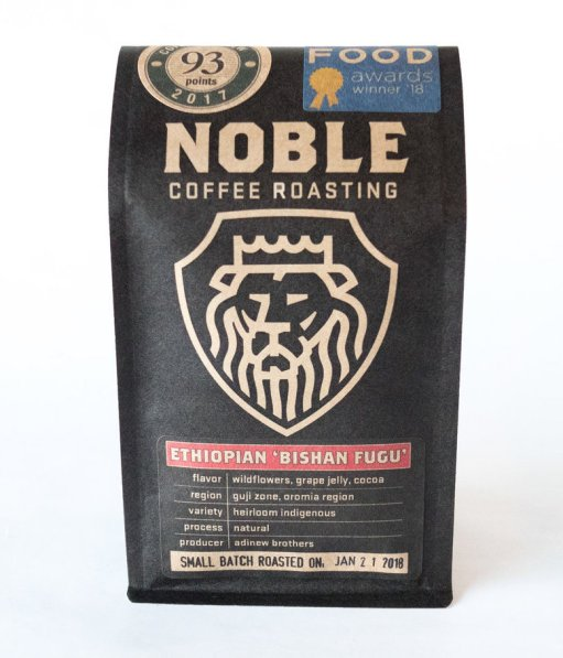 Noble Coffee Roasting's Good Food Award-winning Bishan Fugu.