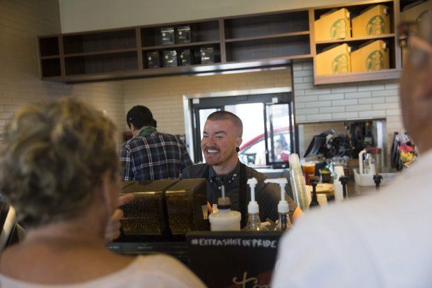 Starbucks transgender health insurance coffee
