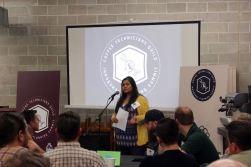 SCA's Mansi Chokshi speaking at the inaugural CTG Summit in 2016.