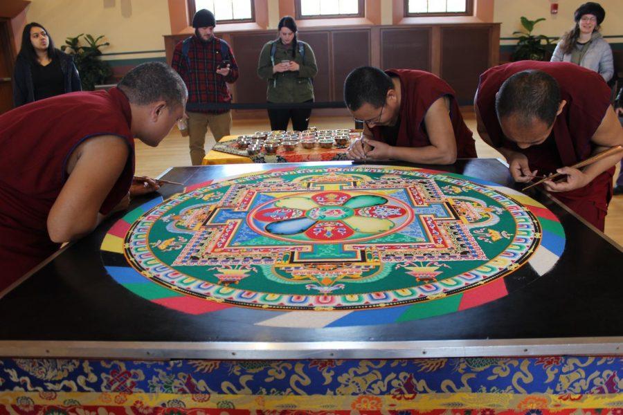 Tibetan monks bless UMass through the creation of sand mandalas – Massachusetts Daily Collegian