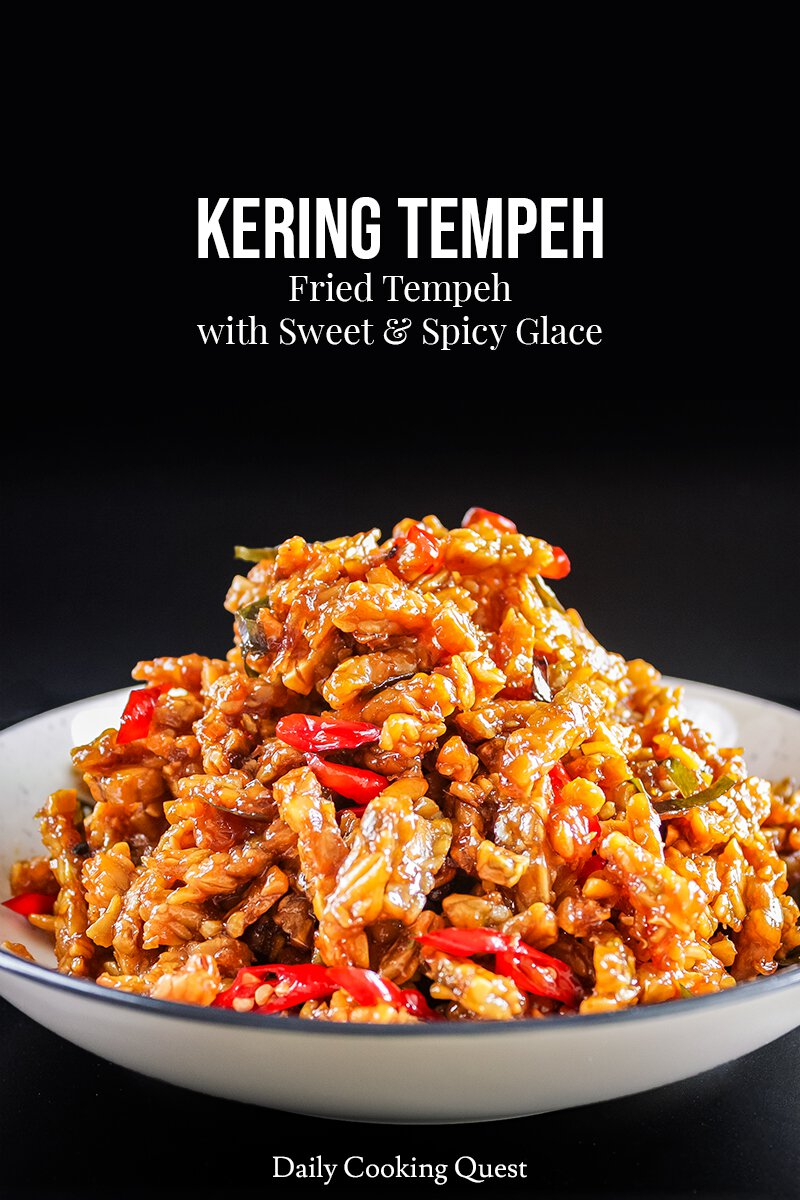 Orek Tempe Kering : tempe, kering, Kering, Tempeh, Fried, Sweet, Spicy, Glace, Recipe, Daily, Cooking, Quest
