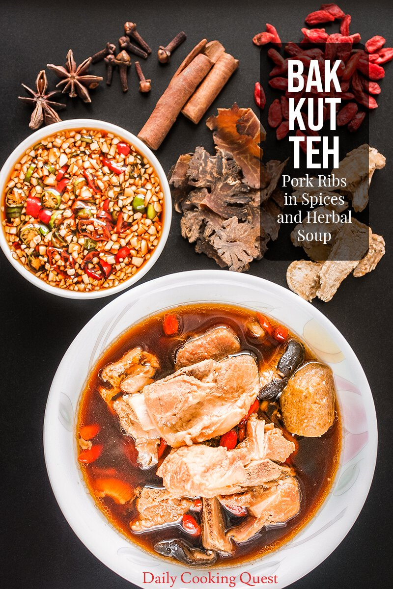 Bak Kut Teh Pork Ribs In Spices And Herbal Soup