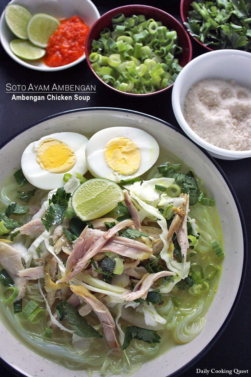 Soto Ayam Hd : Ambengan, Chicken, Recipe, Daily, Cooking, Quest