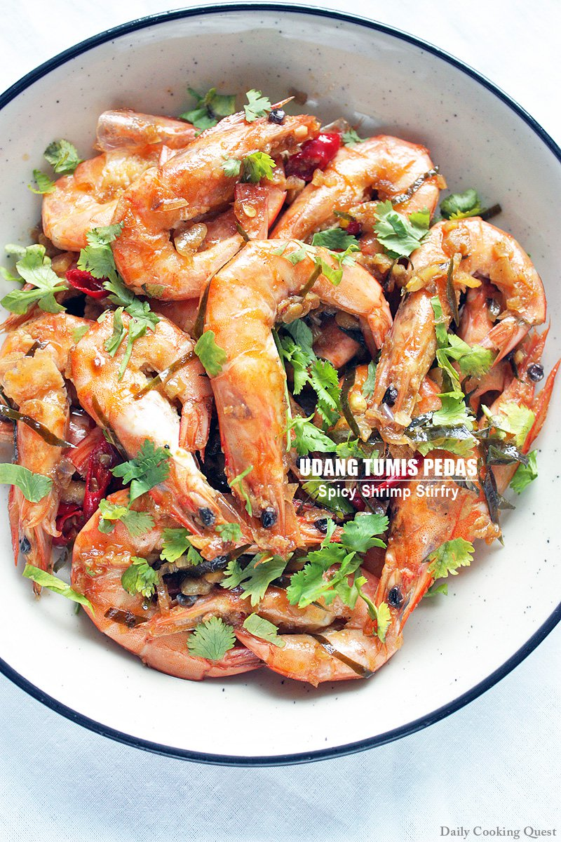 Tumis Udang Pedas : tumis, udang, pedas, Udang, Tumis, Pedas, Spicy, Shrimp, Stirfry, Recipe, Daily, Cooking, Quest