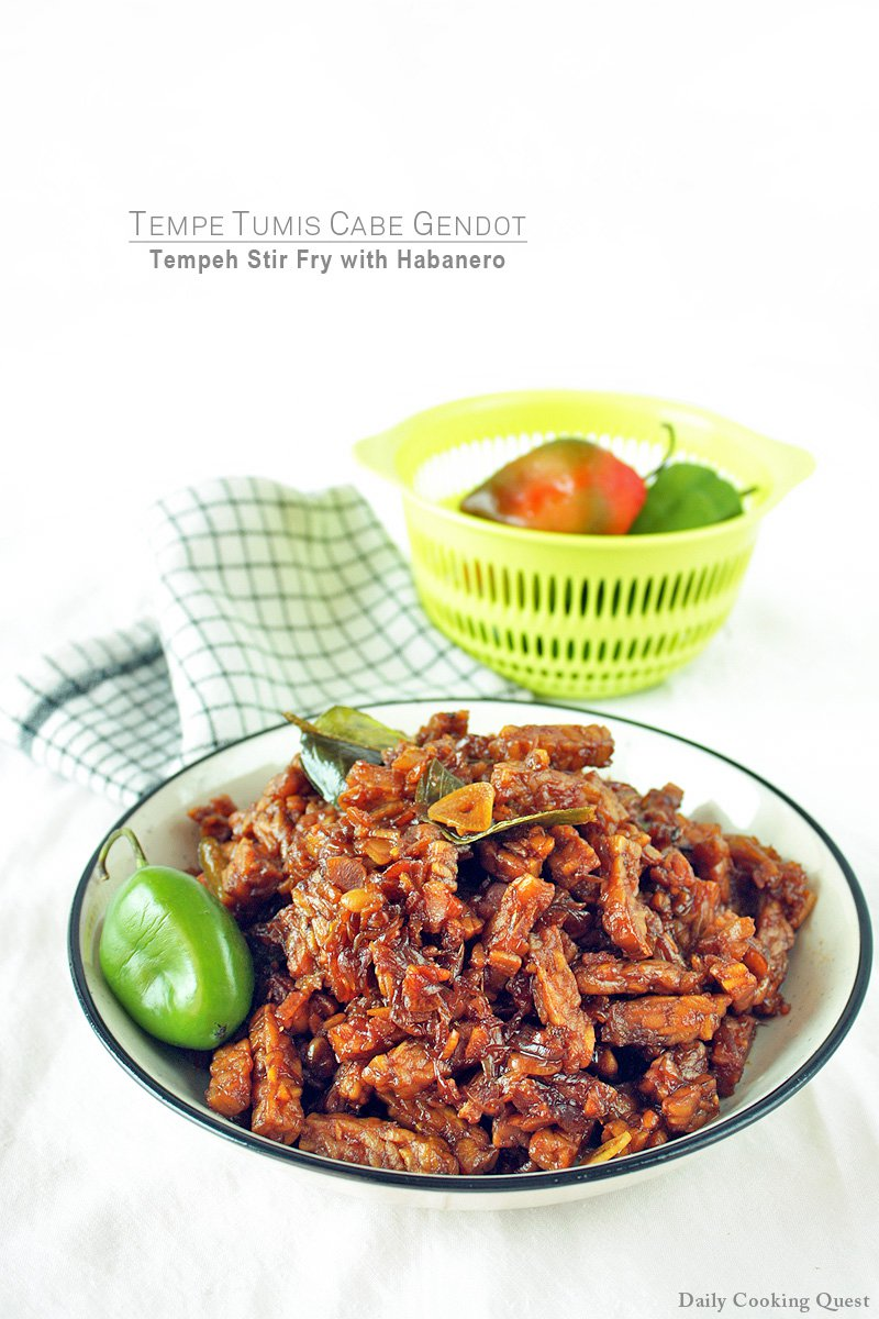 Tumis Tempe Kecap : tumis, tempe, kecap, Tempe, Tumis, Gendot, Tempeh, Habanero, Recipe, Daily, Cooking, Quest